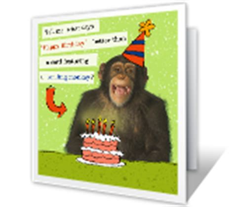 printable birthday cards with monkeys birthday cards print at home free american greetings