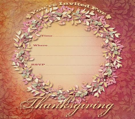 thanksgiving invitation template 365greetings com