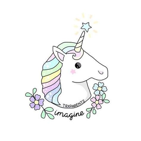 pale colored pale colored unicorn with tiny flowers and