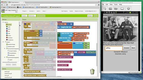 add text  speech  scoring   quiz  app inventor