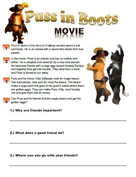 up film worksheet puss in boots movie worksheet esl worksheets pinterest