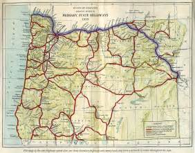 oregon road map oregon mappery