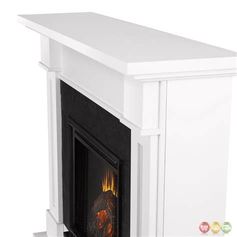 led fireplace heater kipling electric heater led fireplace in white 4700btu 54x42