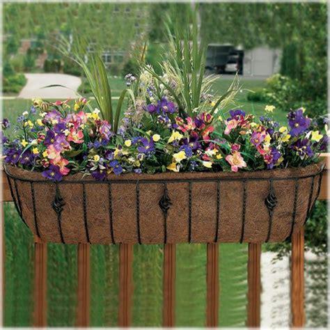 deck railing planter cobraco 24 quot adjustable deck railing planter outdoor living outdoor decor planters