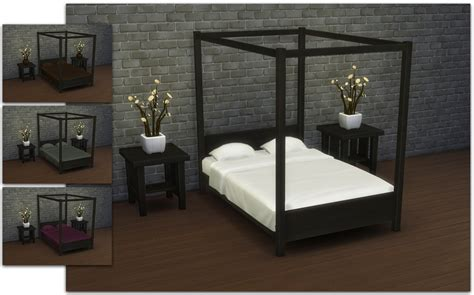 modern four poster bed my sims 4 blog modern four poster double bed by ignorantbliss
