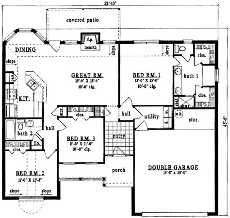monsterhouse plans country style house plans 1484 square foot home 1
