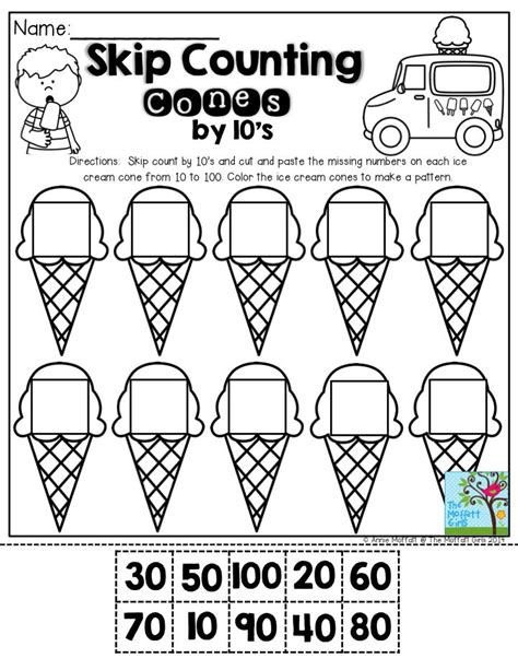 skip counting by 10 worksheets skip counting cones by 10 s don t let you students get