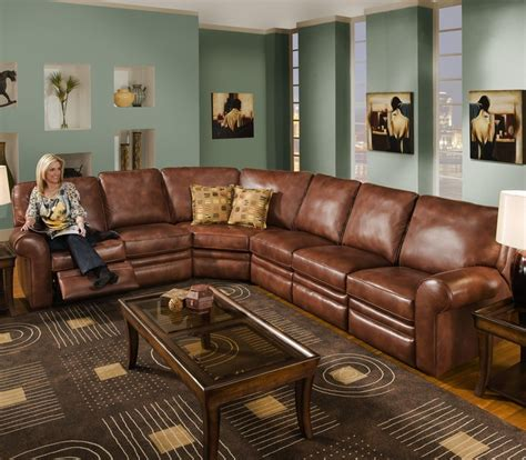 reclining sectional seats 6 leather wolf furniture for