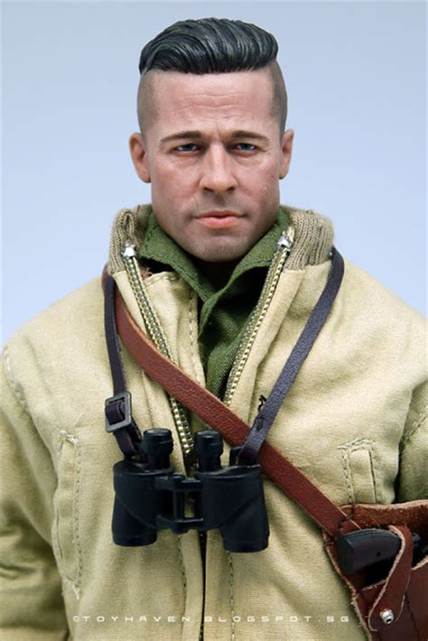 army haircut fury toyhaven kitbash 1 6 scale brad pitt as wwii u s army