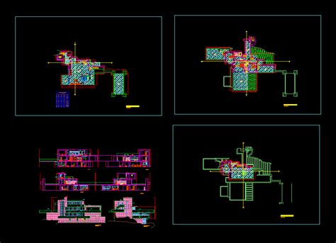 waterfall house  autocad  cad   mb