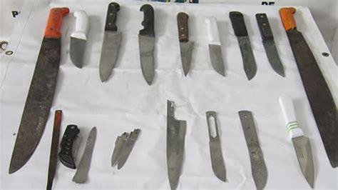 imagenes armas blancas 41 armas blancas fueron incautadas en allanamiento a