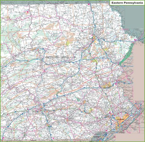 map of penn eastern pa county map pictures to pin on pinsdaddy