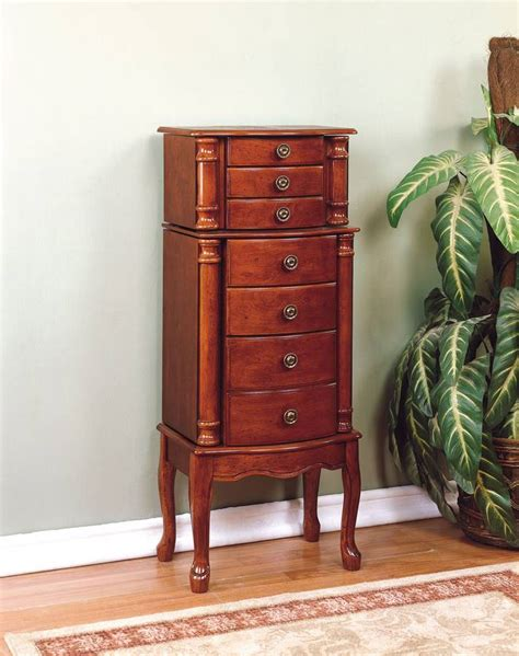 Powell Cherry Jewelry Armoire by Powell Classic Cherry Jewelry Armoire 881 315 Homelement