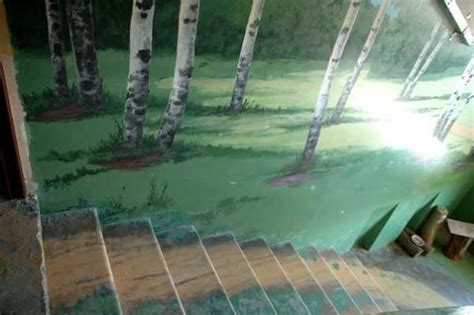Staircase Wall Painting Ideas Amazing Painting Ideas For Staircase Wall Decoration With Gorgeous Landscapes