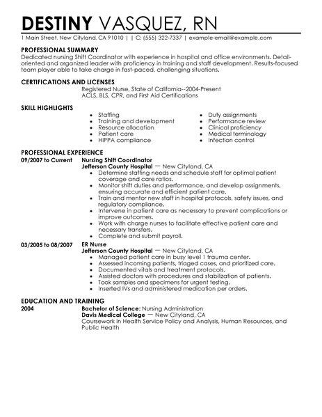 resume templates administrative coordinator ii salary comparison shift coordinator resume exles healthcare resume exles livecareer