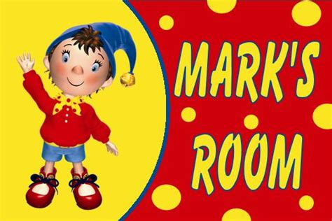 noddy wall stickers personalised noddy door plaque
