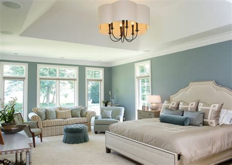 blue paint for bedroom houzz living on the lake traditional bedroom cleveland