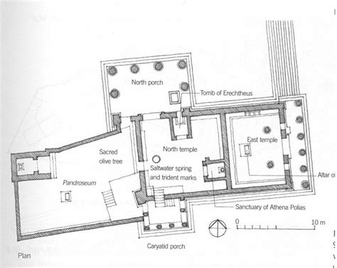 ancient greece floor plan classical erechtheion floor plan look at all the