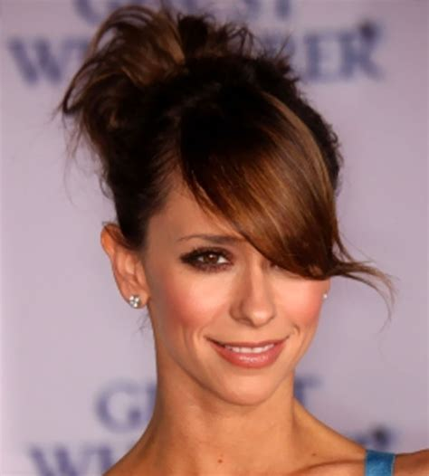 hairstyles with bangs and buns jennifer love hewitt high bun updos with bangs nice