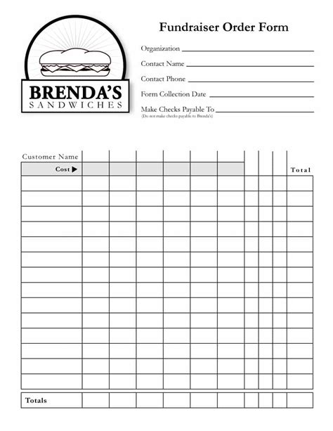 40 Order Form Templates Work Order Change Order More Order Form Template