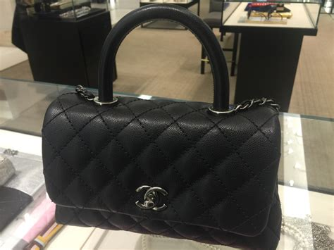 coco handle size chanel coco handle bag reference guide spotted fashion