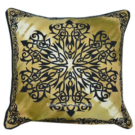 16x16 quot celtic floral tie dye pillow royalfurnish