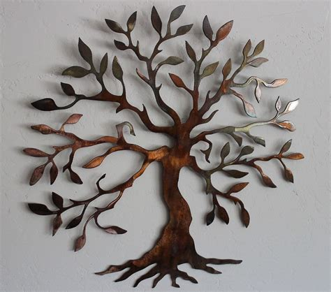 wire tree wall hanging home decor olive tree tree of life 40 quot metal wall art decor ebay