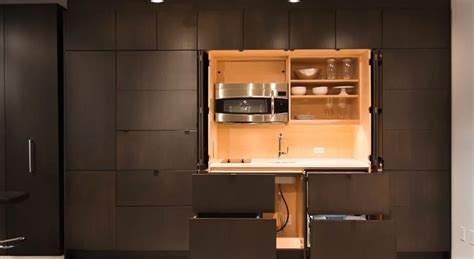 Clever Stealth Kitchen Hiding Away Unneeded Components