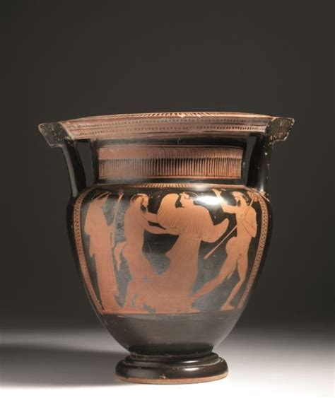 vasi greci a figure rosse grande cratere a colonnette attico a figure rosse
