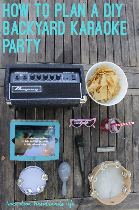 how to throw a backyard party how to throw a backyard karaoke party dear handmade life