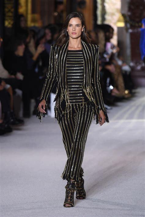 Alessandra Ambrosio Uh Walks Around by Alessandra Ambrosio Walks Balmain Fashion Show In