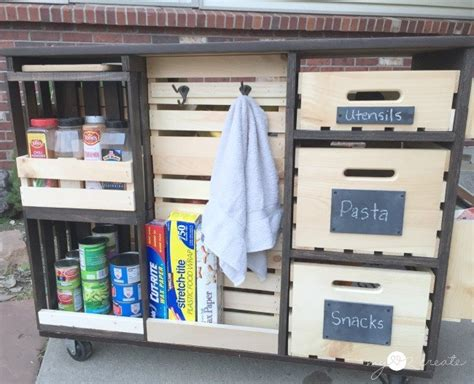 Rolling Kitchen Pantry by Hometalk Rolling Kitchen Island And Pantry Storage