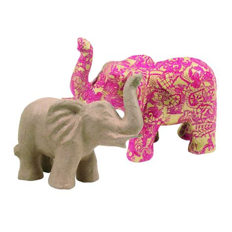 Halloween Paper Bag Crafts - paper mache small elephant decopatch and paper mache from crafty crocodiles uk