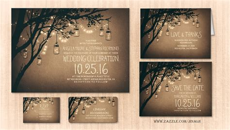 firefly wedding invitations read more twinkle lights jars rustic wedding invitation wedding invitations by jinaiji