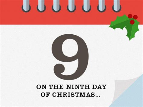 9th day of christmas 12 days of christmas origin