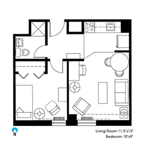 rooms floor plans seabury graduate housing division of student affairs northwestern engelhart one bedroom single northwestern student affairs