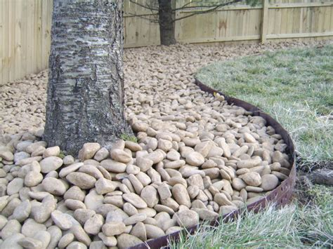 River Rock Landscaping Ideas Nashville River Rock Landscape Remodel