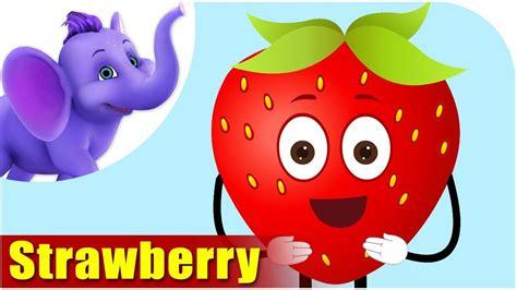 strawberry cartoon strawberry fruit rhyme for children strawberry cartoon