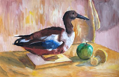 still life with duck home office gallery older 183 semyon filippov