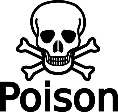 Skull And Crossbones Clipart poison with skull crossbones clip at clker