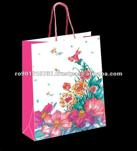 Handmade Design On Paper - romania custom handmade shopping paper bag with handle