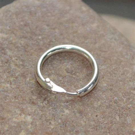 18 nose ring solid sterling silver size 10mm