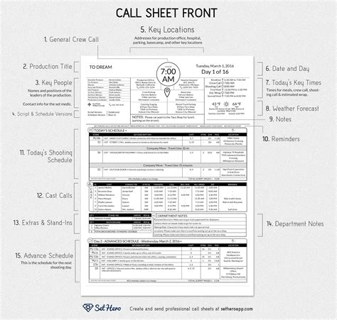 hotel up call template creating professional call sheets free excel template