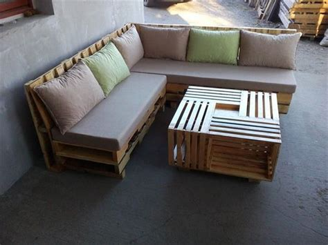 l shaped outdoor sofa some wonderful pallet l shape sofa set pallets designs