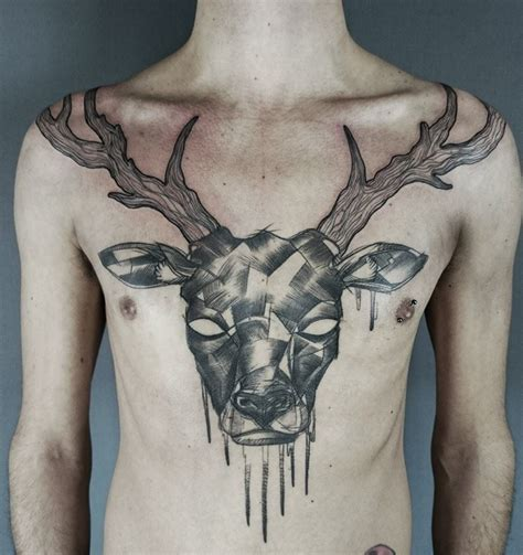 stag tattoo 15 noble stag and deer tattoos tattoodo
