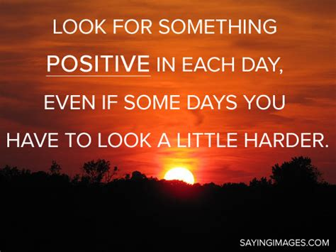 The Day Something To by Look For Something Positive In Each Day