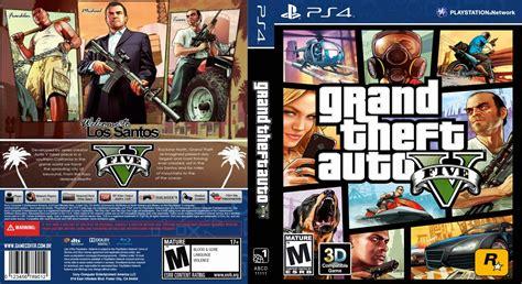 Dvd Ps4 Gta V mega covers capa grand theft auto v gta v ps4