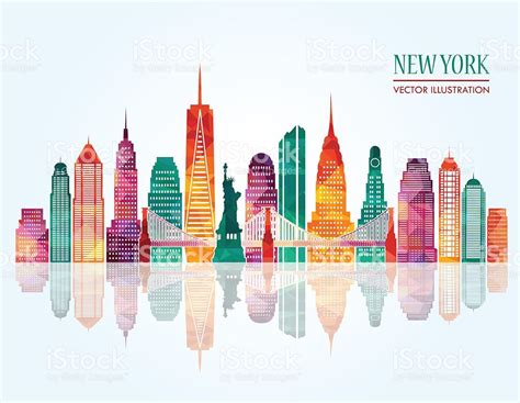 color nyc colors clipart new york skyline pencil and in color