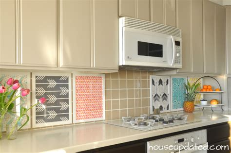 diy temporary backsplash house updated
