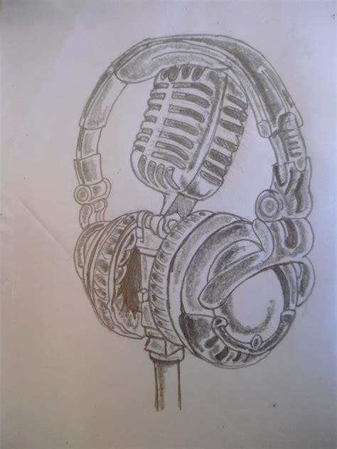 microphone tattoo sketch mic and headphone by dayo16 on deviantart